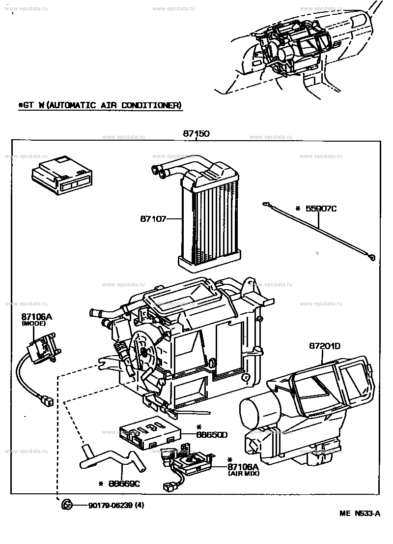 HEATING & AIR CONDITIONING - HEATER UNIT & BLOWER